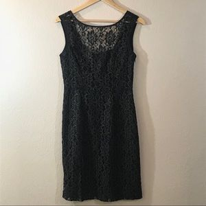 Marc New York Netted Lace Black Dress